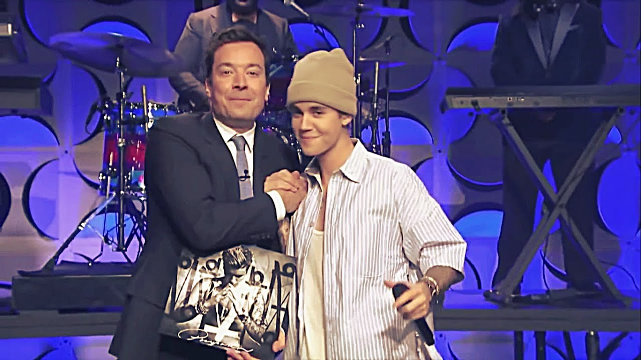 Justin Bieber On The Tonight Show With Jimmy Fallon Singing Sorry