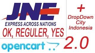 Gratis JNE Lengkap Yes Reg Oke Plus Dropdown City Untuk Opencart 2 0