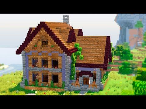 Красивый дом в Майнкрафт - Как построить большой дом - Скачать карту Minecraft