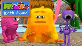 Monster Math Squad |  FULL EPISODE  | Little Wally Ball-y Monster | Learning Numbers Series