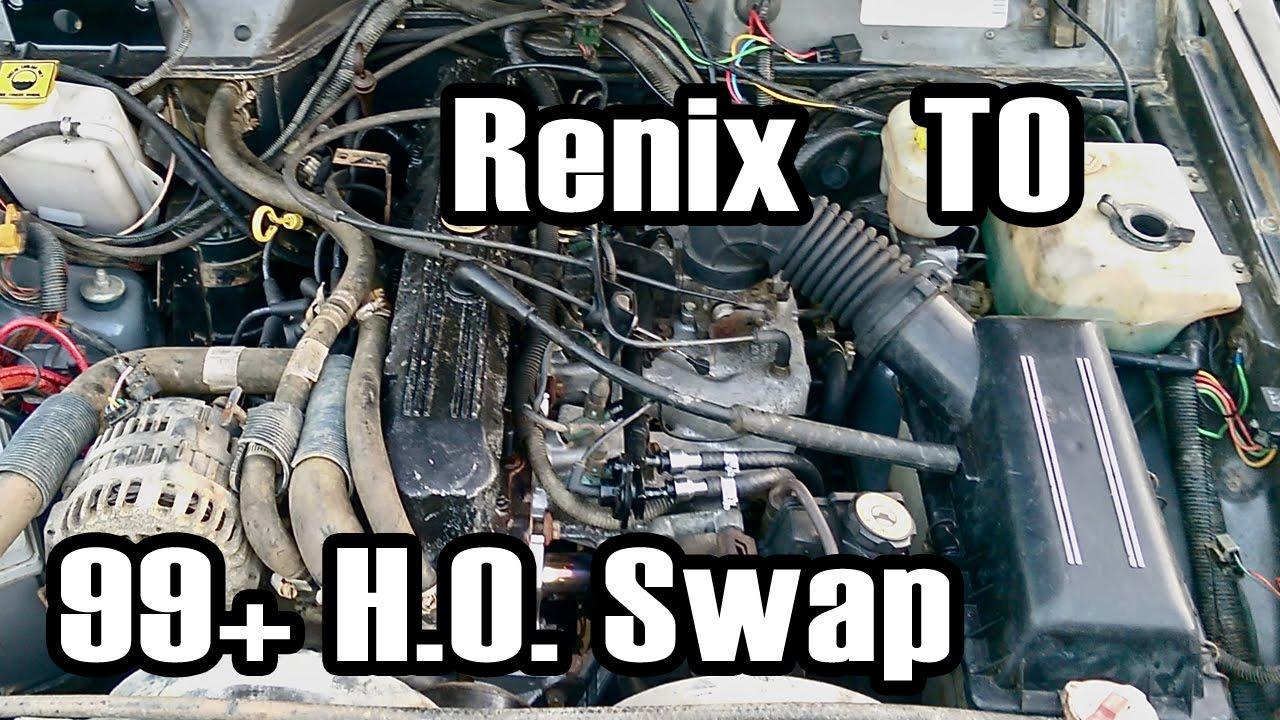 89 Cherokee Renix to 99+ HO Manifold Swap