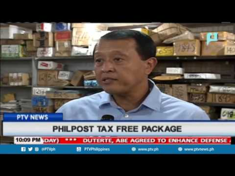 PHILPOST tax free package