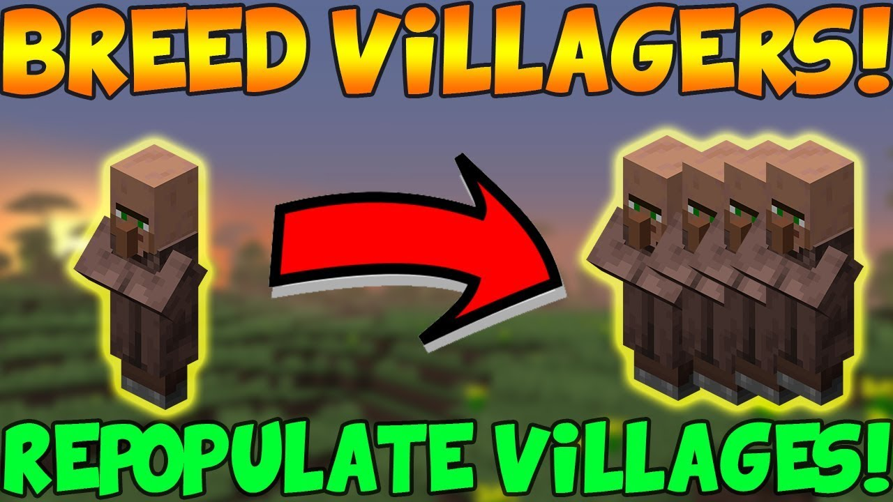 Minecraft Bedrock: Villager Breeding Guide! (EASY) Repopulate villages!  Breed Villagers Xbox,PC,PS4