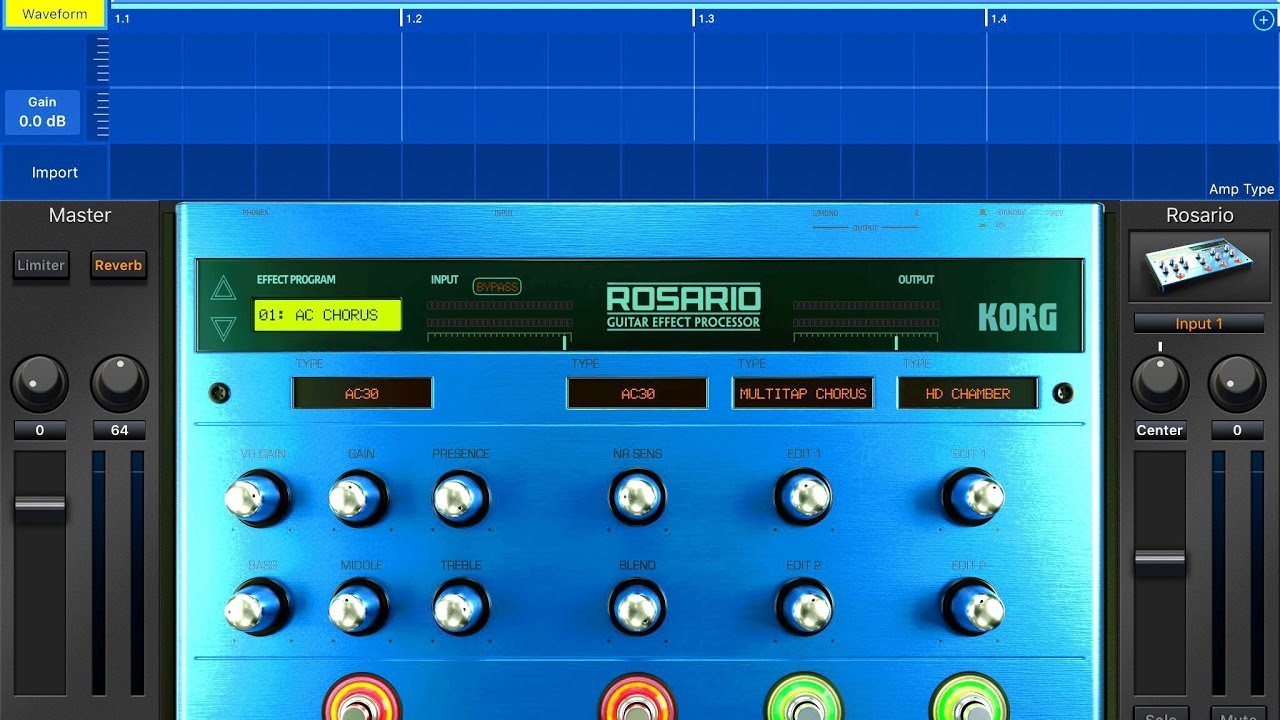 korg gadget rosario guitar effects processor demo for ipad youtube. Black Bedroom Furniture Sets. Home Design Ideas