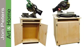 How To Build A Double Sided Chop Saw Cabinet