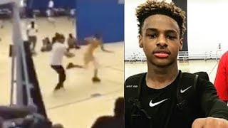 AAU Game Goes CRAZY After Parent SHOVES Kid During Basketball Game!