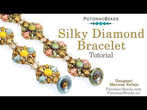 Silky Diamond Bracelet (DIY Pattern Tutorial)
