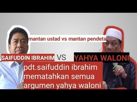 Pdt, Saifuddin Ibrahim Vs Ustadz, Yahya Waloni