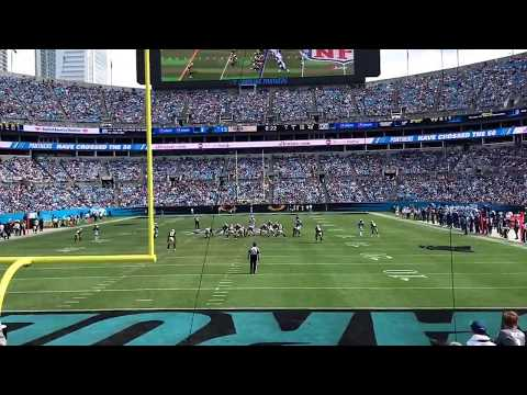 Panthers Stadium Section 101 Row 9 seat 5  View. Point of view. Bank of America. End Zone seats