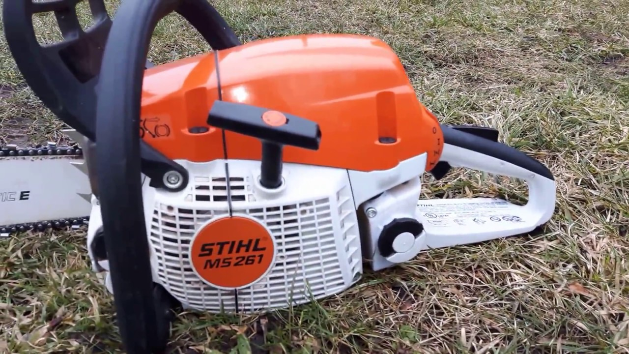 Stihl ms 261 chainsaw coldstart youtube - Stihl ms 261 ...