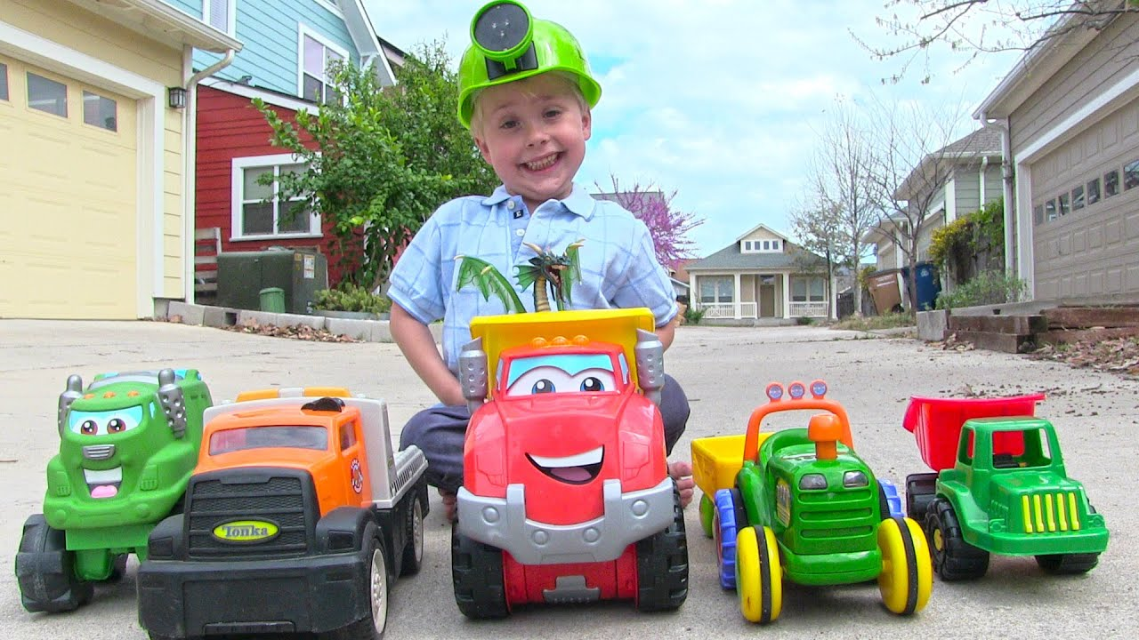 Toy Truck Videos for Children Toy Dump Truck Garbage Truck Tow