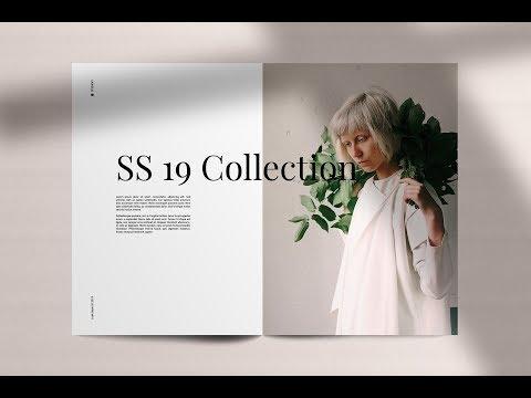 lookbook minimal fashion template magazine templates creative market