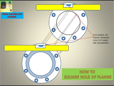 How to Square Flange and Hole of Flange and Pipe to Pipe - YouTube