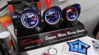 Демо-стенд датчиков Depo Racing в магазин тюнинга TuningShop24