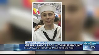Missing sailor returns to unit