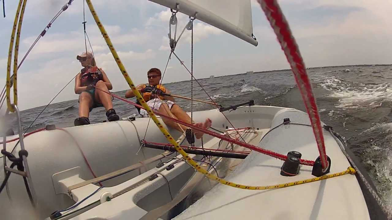 club 420 sailing with gopro youtube