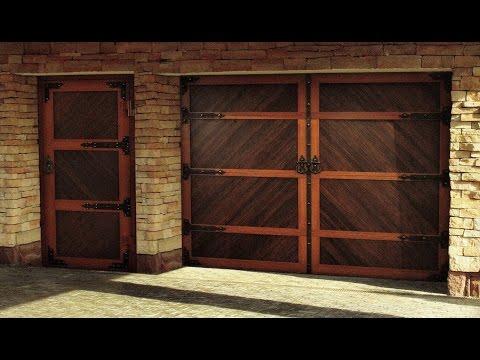 Имитация распашных старинных ворот. Секционные ворота DoorHan Premium Country