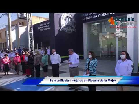 Mujeres víctimas de violencia de manifestaron en la inauguración de la Fiscalía de la Mujer