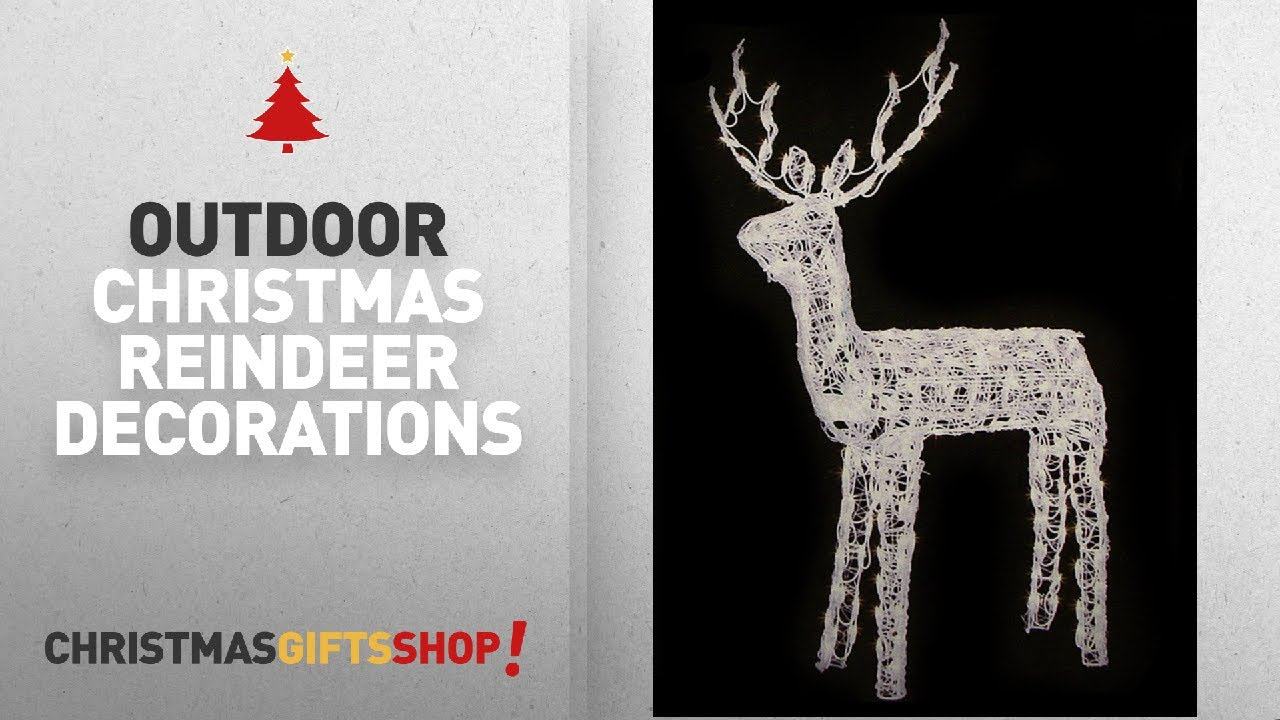 outdoor christmas reindeer decorations lighted ideas 48 animated crystal 3 d standing buck