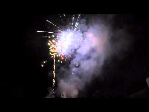 A simple, colourful fireworks display