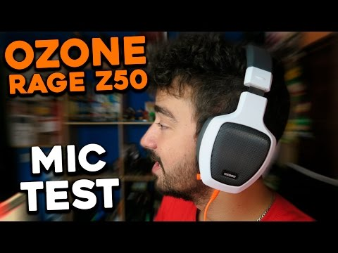 UNBOXING & REVIEW - OZONE RAGE Z50 - MIC TEST !