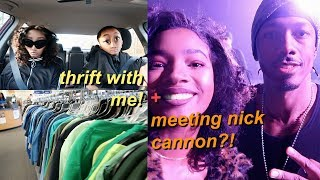Backstage of Wild n' Out w/ Nick Cannon! + Thrifting with me!