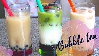 Bubble Tea: Chai, Matcha, Té Negro ☕