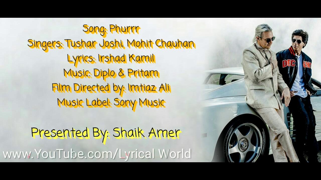 Download Phurrr Full Song Lyrics | Diplo & Pritam | Jab Harry Met Sejal.