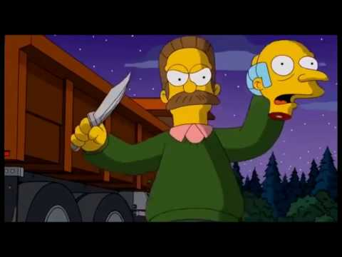 The Simpsons: Ned Flanders kills for God [Clip]