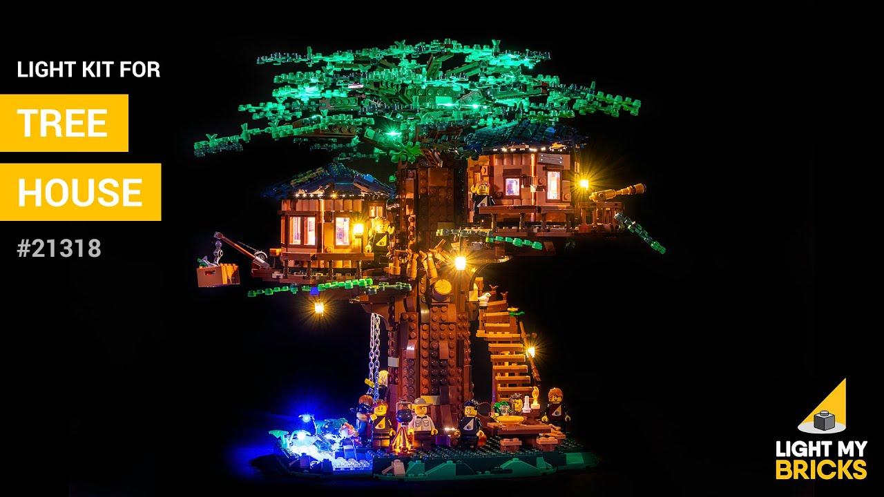 Lego Ideas Tree House 21318 Light Kit Light My Bricks Youtube