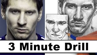How to Draw Lionel Messi in 3 Minutes