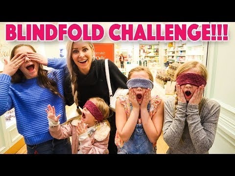 bird box BLINDFOLD CHALLENGE AT THE MALL shopping to find THE CUTEST OUTFIT