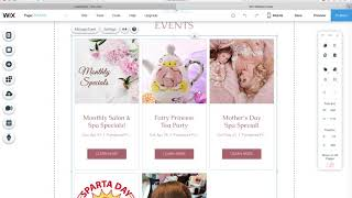 How to edit my new WIX site:  Events App