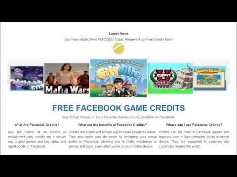 FACEBOOK GAME CREDITS