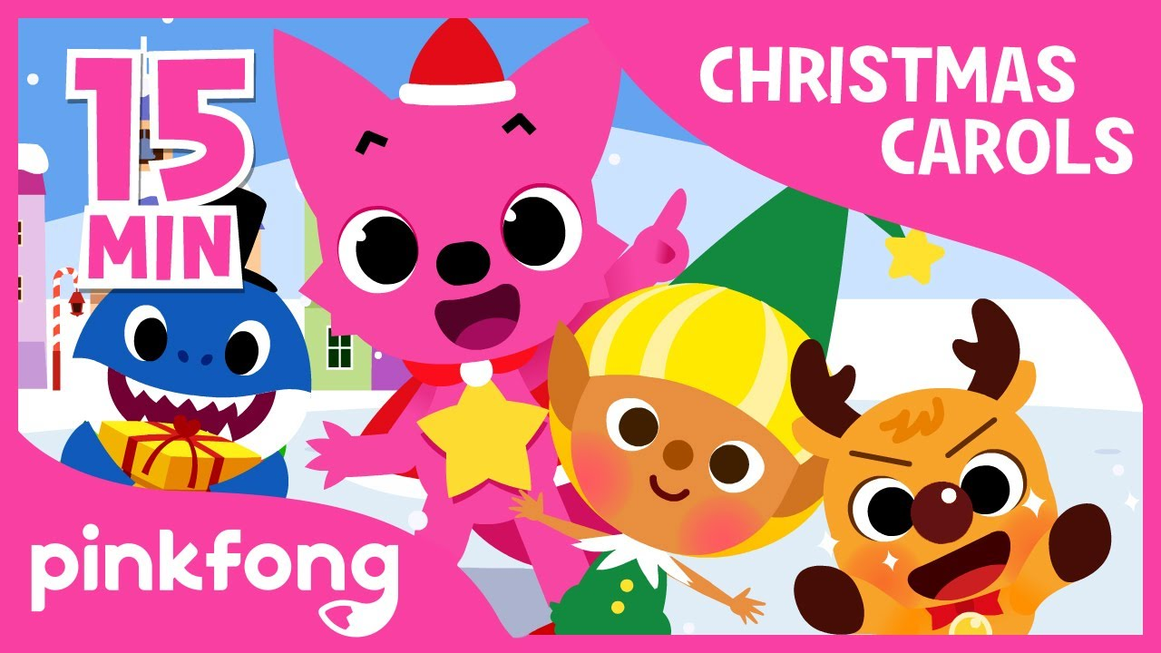 christmas sharks christmas carols compilation pinkfong songs for children youtube. Black Bedroom Furniture Sets. Home Design Ideas