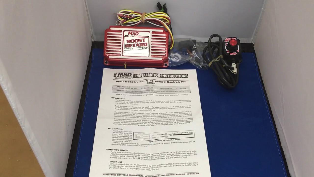 Dodge Viper Supercharger Msd 8665 Retard Unit Adjusts Timing As Boost Digital 6al Wiring Diagram Custom Cruiserseu 01773835666
