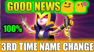 3RD Time name change||how to change name 3rd time||in hindi||clash of clans