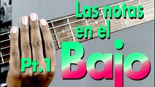 Bajo Notas trastes 1 a 5 - Aprende Musica Facil con Danny Cabezas