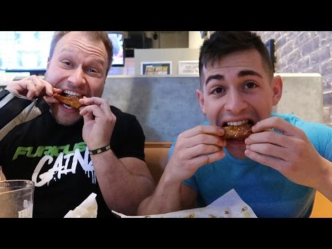 HOW TO EAT SPICY HOT WINGS FAST! w/ Furious Pete