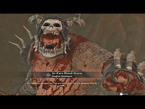 Shadow of War - MAX Level 65 Slaughter Tribe DLC Olog Boss Fight thumbnail