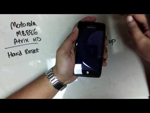 Motorola Atrix HD MB886 Hard Reset Instructions