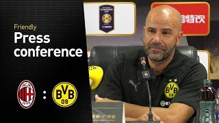 Peter Bosz auf der Pressekonferenz | AC Milan - BVB 1:3 (Asia tour)