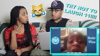 Couple Reacts : TRY NOT TO LAUGH or GRIN Challenge Part 11!!!