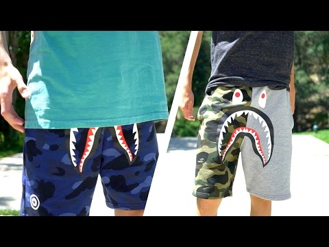 BAPE SHARK SHORTS!! | REVIEWED