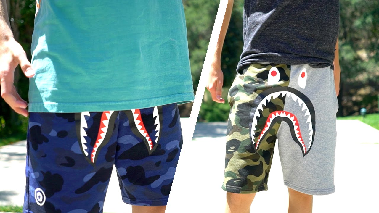 BAPE SHARK SHORTS!!  5d38d20658
