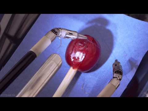 da Vinci Robot Stitches a Grape Back Together