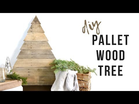 DIY Pallet Wood Christmas Tree | How To Make A Rustic Tree