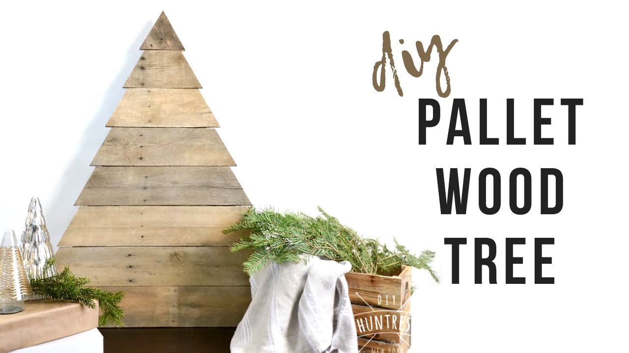 Pallet Wood Christmas Tree.Diy Pallet Wood Christmas Tree How To Make A Rustic Tree