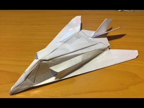 How to make the F-117 Nighthawk Paper Airplane