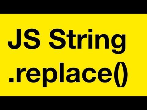 JavaScript строковый метод Replace() замена в строке с регулярным выражением